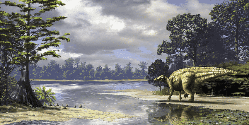 Fig-6-Reconstruction-of-the-Late-Cretaceous-ecosystem-in-which-the-hadrosaur-dinosaur