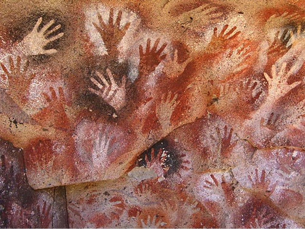 Pintura de manos en Altamira