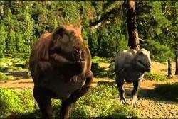 Abelisaurus cazando