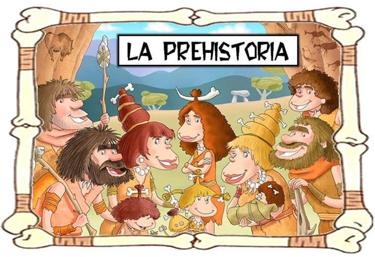 dibujo de la prehistoria creado por niños